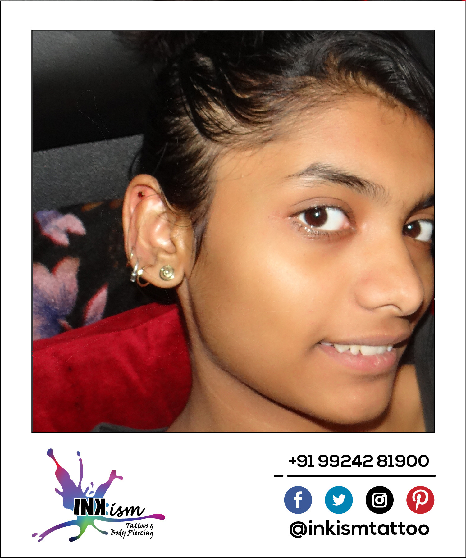 Ear Piercing, Piercing at Inkism tattoo and piercing, Rajkot, Gujarat