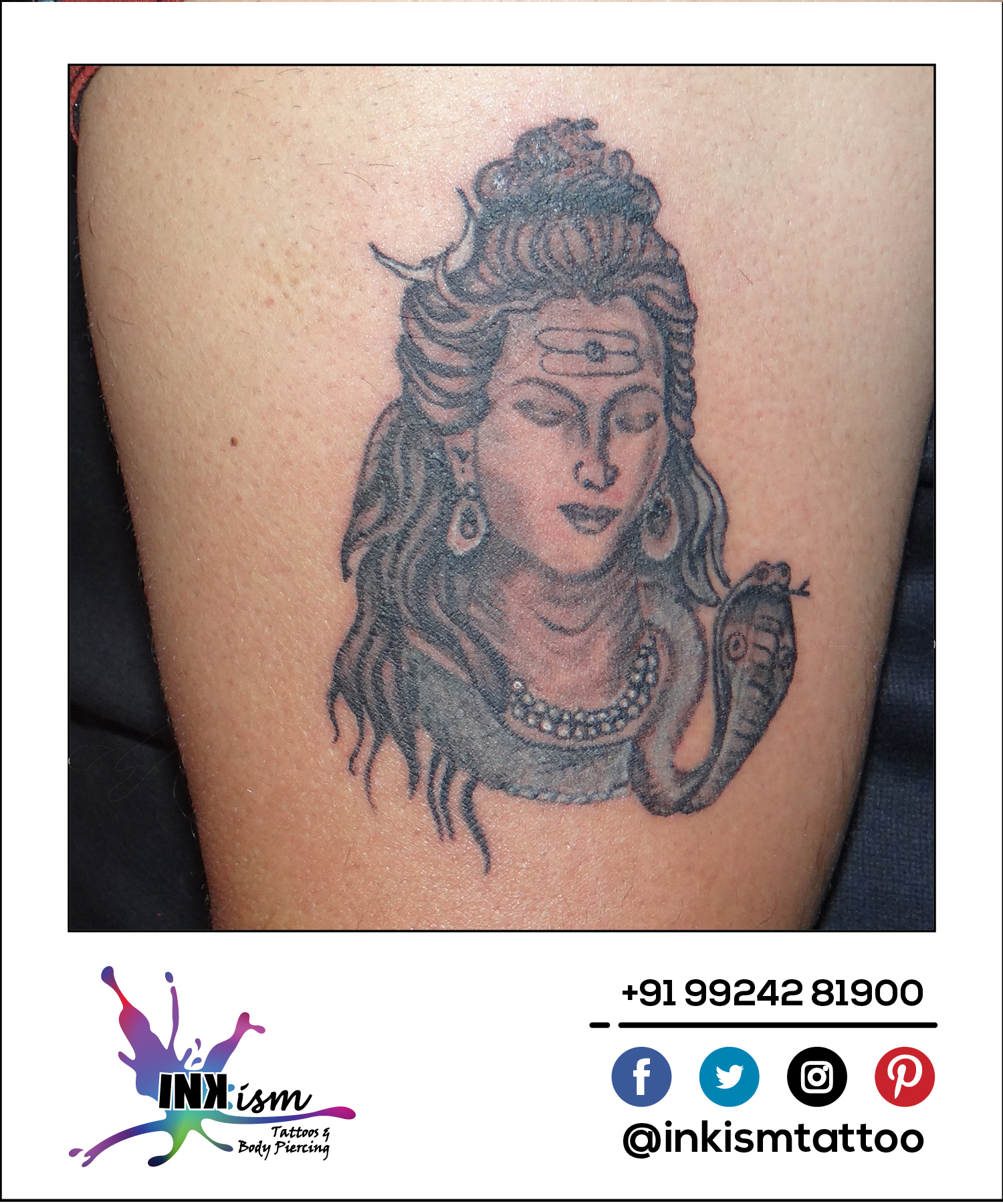 Mahadev tattoo, Shiva tattoo, Shiv tattoo, Bholenath tattoo, inkism tattoo and body piercing rajkot gujarat