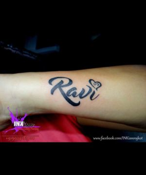 Name Calligraphy tattoo, Calligraphy tattoo, Name tattoo, Inkism tattoo and body piercing rajkot gujarat