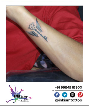 Key Angle Wings Celtic tattoo, key tattoo, angle wings tattoo, celtic tattoo, Inkism tattoo and body piercing rajkot gujarat