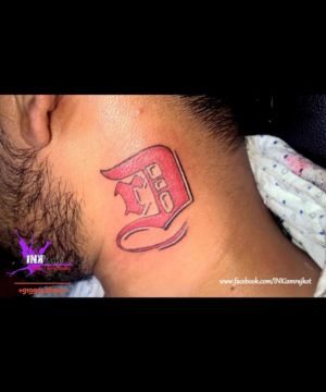 Name initials tattoo, Alphabet tattoo, Inkism tattoo and body piercing rajkot gujarat