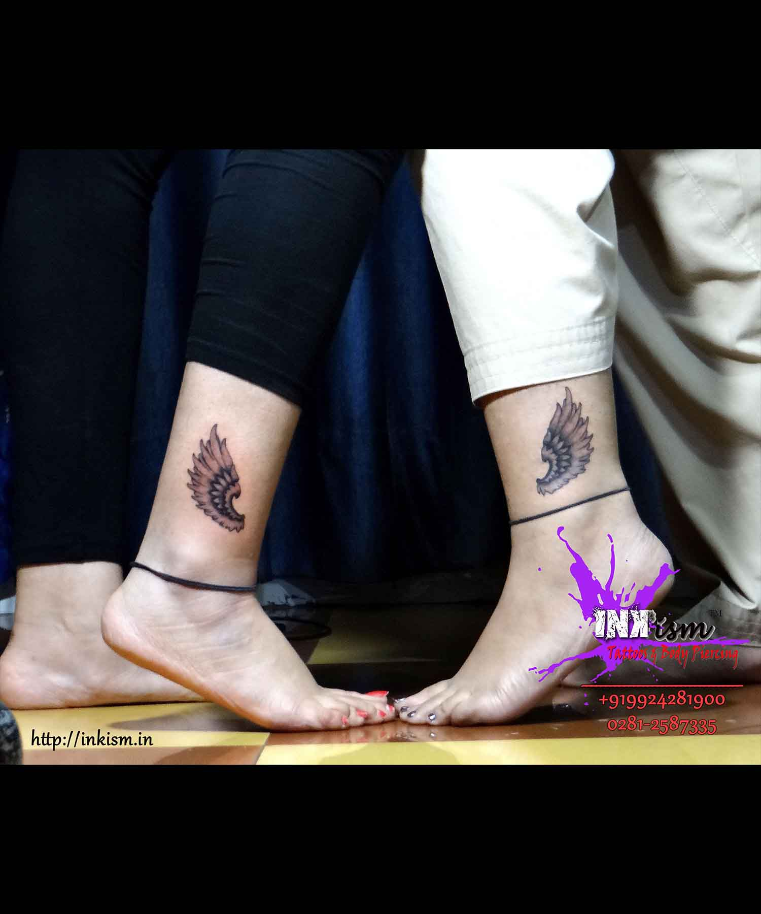 Wings Tattoo, Best Friend tattoo, Inkism tattoo and body piercing rajkot gujarat