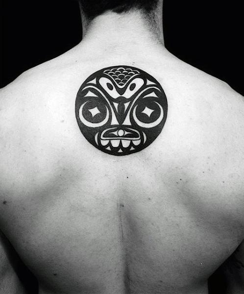 Male Back Spherical Haida Tattoo Inkism